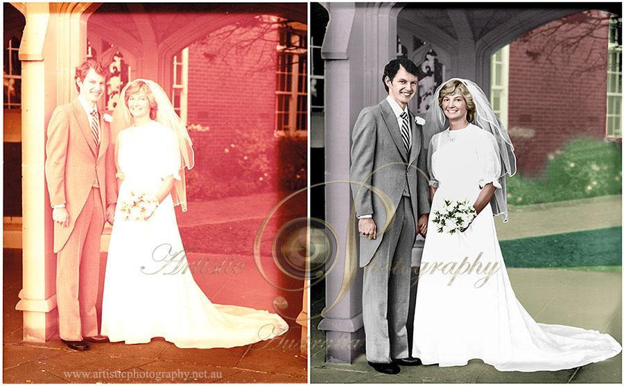 Wedding photograph restoration